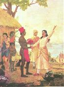 Raja Ravi Varma Bhishma Pledge oil painting picture wholesale